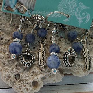 sodalite inspirational gemstone earrings handmade in Noosa Australia