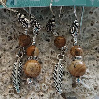 jasper inspirational gemstone earrings handmade in Noosa Australia