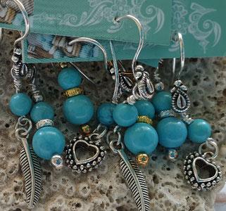 turquoise inspirational earrings handmade in Noosa Australia