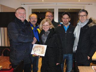v.l. Manfred Reger, Karl Burner, Petra Hallhuber, Joachim Enggruber, Sascha Matsche, Arno Baumgartner
