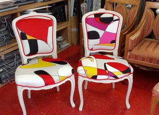 marylinegrac- tapissier d'ameublement-Chaises. Rénovation complète