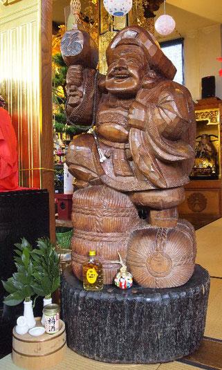 きつね稚児行列の専養寺でお祀りされている大黒天(ハグ大黒)です。