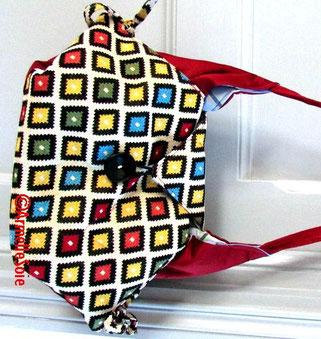 sac,besace, cabas, original, fait main,fabriqué en France,multicolore,  femme, chic