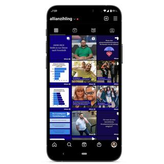 Betreuung Instagram von Allianz Ihling