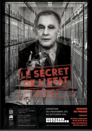 le secret de l'état, affiche, exposition, archives nationales