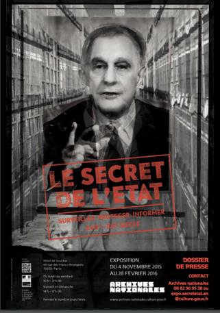 le secret de l'état, affiche, exposition, archives nationales