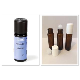 ätherisches Öl Lavendel leere Glasflaschen Roll-on