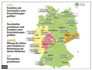 Schnee von gestern: Ab heute darf auch Hessen wieder auf den Platz (Quelle: DTB vom 5.11.2020)
