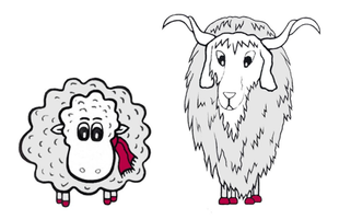 Grace O'Sheep und der Kaschmir-Ziegenbock