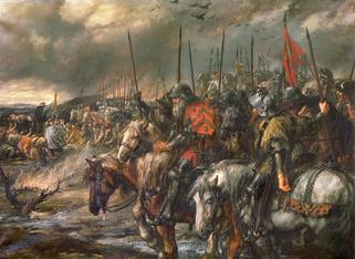 Matin de la bataille par Sir John Gilbert.wikimedia.org
