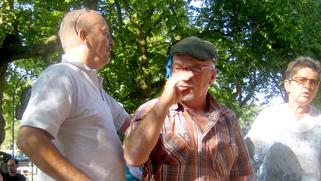 Markus, Xaver und Susi (von links nach rechts) in der Klosterschänke.
