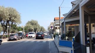 Italien Rimini Touristen-Ort Straße