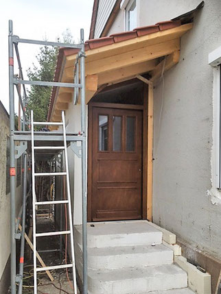 Eingangsüberdachung zur Selbstmontage