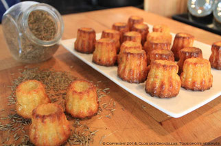 Mini cannelé au cumin