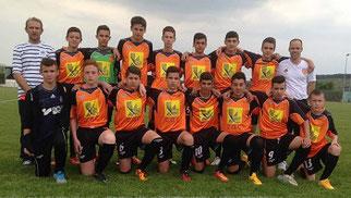 Les U15 champions en 2015