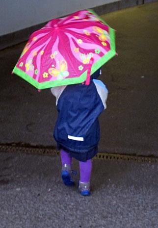 16. Mai 2014 -  Keiner zu klein im Regen zu gehen