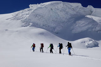ski touring mountain guide Swiss Alps