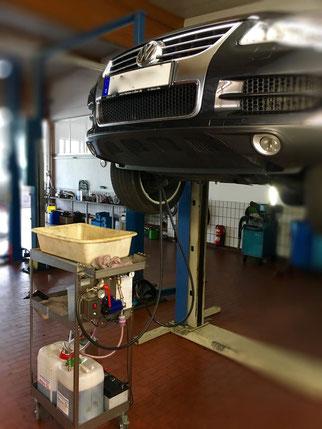 Ölspülung Audi