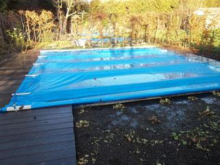 Zwemvijver met overkapping