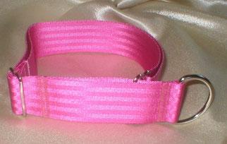 Zugstopp, Halsband, 4cm, Gurtband pink