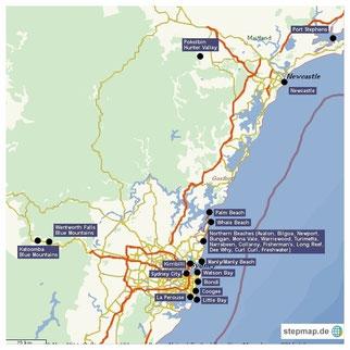 Sydney, Kirribilli, Glenferrie Lodge, Watsons Bay, Manly, Northern Beaches, Royal National Park, Royal NP, Bondi Beach, Bronte Beach, Coogee Beach, The Rocks, Opera, Harbour Bridge, Circular Quay