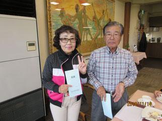 第74回優勝者 大貫節子さんと横内会長