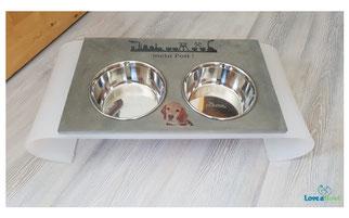 Hunde Futterbar Edelstahlnäpfe