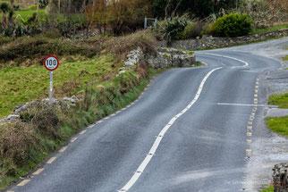 Geschweindigkeitsempfehlung für irische Straßen