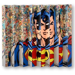 Spiderman Batman painting