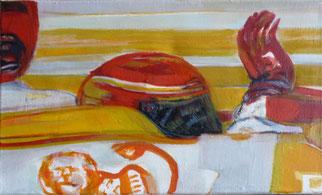 Roter Handschuh 30 x 50 Öl Lw 2010
