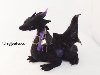 羊毛フェルト イラスト 立体 オーダー ドラゴン