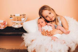 newborn op bedje