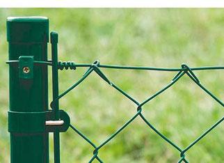 Drahtzaun Zaun Gartenzaun Metallzaun grün Gittermattenzaun Mattenzaun Gittermatte