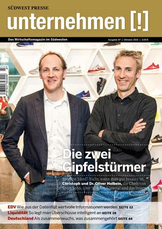 Unternehmen[!]- Magazin mit zwei Männern 2