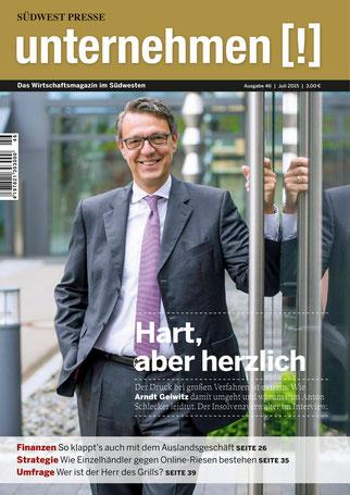 Unternehmen[!]- Magazin mit Mann 10