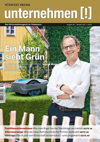 Unternehmen[!]- Magazin mit Mann 19