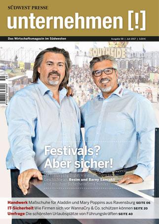 Unternehmen[!]- Magazin mit zwei Männern 3