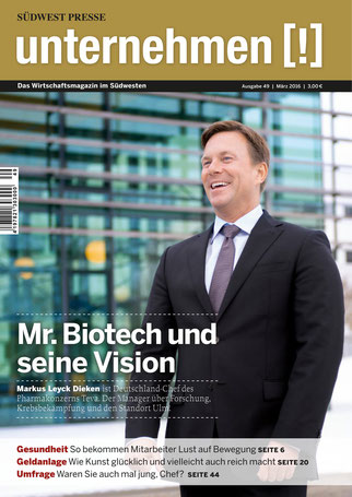Unternehmen[!]- Magazin mit Mann 12