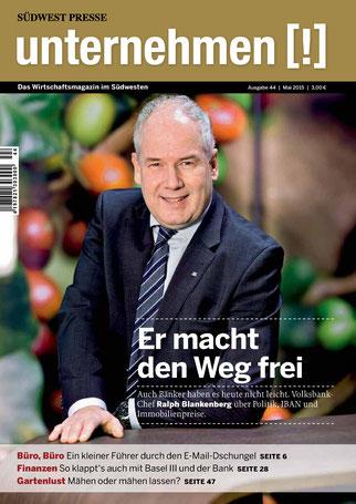 Unternehmen[!]- Magazin mit Mann 9