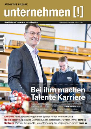 Unternehmen[!]- Magazin mit Mann 20