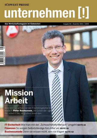 Unternehmen[!]- Magazin mit Mann 11