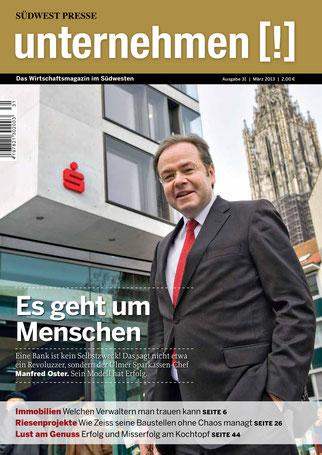 Unternehmen[!]- Magazin mit Mann