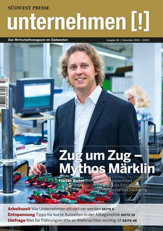 Unternehmen[!]- Magazin mit Mann 16
