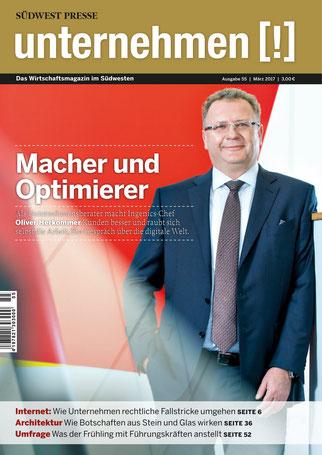 Unternehmen[!]- Magazin mit Mann 17