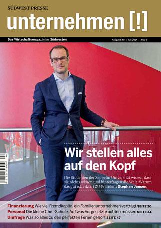 Unternehmen[!]- Magazin mit Mann 6