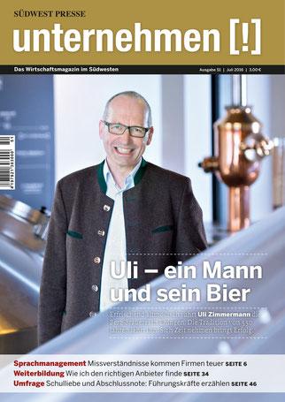 Unternehmen[!]- Magazin mit Mann 14