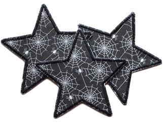 Stern Applikation Spinne Spinnweben Patch Aufbügler
