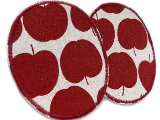 Große Knieflicken Hosenflicken Flicken Apfel rot Bügelflicken für Mädchen
