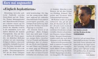 """Kolumne 3: """"Einfach boykottieren"""" im TOURENFAHRER 07-2018"""