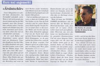 """Kolumne 2: """"Ätväntschör"""" im TOURENFAHRER 05-2018, Seite 10"""